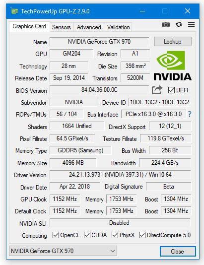 显卡识别澳门美高梅国际娱乐场GPU-Z 2.9.0版发布:支持最新Windows 10 4月更新