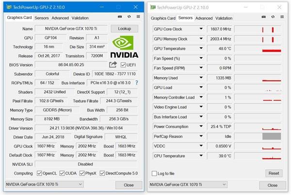 显卡识别神器GPU-Z最新2.10.0版:支持GDDR6显存显卡识别,还支持AMD、Intel处理器的温度监控