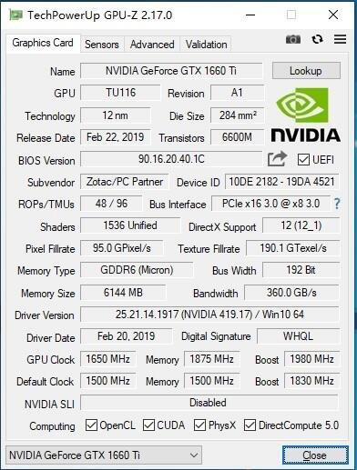 GPU-Z V2.17.0版本更新:支持GTX 1660 Ti、RTX 20系列移动版、Radeon VII等一大波新卡
