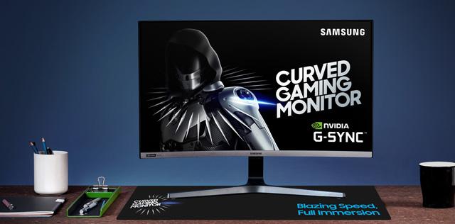 三星推全新27英寸240Hz曲面显示器C27RG5:支持G-Sync